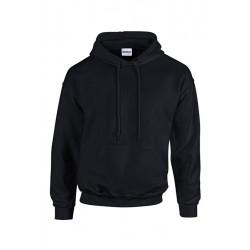SWEAT SHIRT A CAPUCHE enfant mixte MARQUE GILDAN Noir du 5/6 au 12/14 ans vêtement qualité supérieur neuf