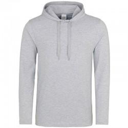 Sweat shirt à capuche HOMME LEGER marque AWDIS Gris DU XS AU XXL vêtement neuf
