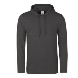 Sweat shirt à capuche HOMME LEGER marque AWDIS Gris Anthracite DU XS AU XXL vêtement neuf