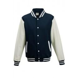 Veste molleton HOMME/ADOS TEDDY marque AWDIS marine/blanc DU XS AU XXL vêtement neuf