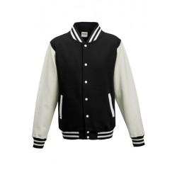 Veste molleton HOMME/ADOS TEDDY marque AWDIS Noir/Blanc DU XS AU XXL vêtement neuf