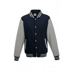 Veste molleton HOMME/ADOS TEDDY marque AWDIS Marine/gris DU XS AU XXL vêtement neuf