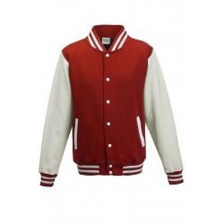 Veste molleton HOMME/ADOS TEDDY marque AWDIS Rouge/Blanc DU XS AU XXL vêtement neuf