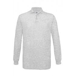 POLO T shirt PIQUÉ HOMME ADOS MANCHES LONGUES Gris DU S A XXL MARQUE B&C SAFRAN LSL vêtement neuf