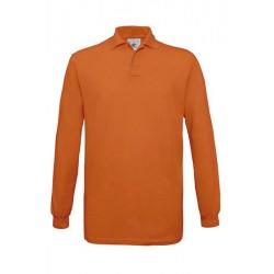 POLO Tshirt PIQUÉ HOMME ADOS MANCHES LONGUES orange DU S A XXL MARQUE B&C SAFRAN LSL vêtement neuf