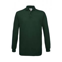POLO T shirt PIQUÉ HOMME ADOS MANCHES LONGUES vert foncé DU S A XXL MARQUE B&C SAFRAN LSL vêtement neuf