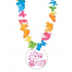 Badge équipe de la mariée v03 enterrement vie de jeune fille +collier Hawai divers couleurs mariage idée cadeau neuf