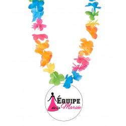 Badge équipe de la mariée v02 enterrement vie de jeune fille avec collier Hawai divers couleurs mariage idée cadeau neuf