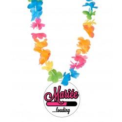 Badge marié loading ... mariage enterrement vie de jeune fille avec collier Hawai divers couleurs idée cadeau neuf