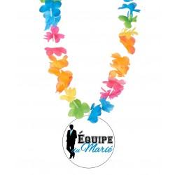 Badge équipe du marié mariage enterrement vie de garçon avec collier Hawai divers couleurs idée cadeau neuf