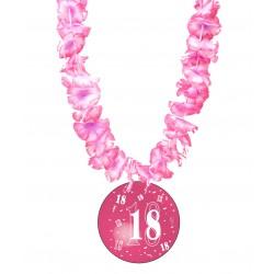 Badge humour 18 ans fille avec collier Hawai divers couleurs idée cadeau anniversaire neuf