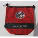 petit sac de plage enfant rouge a motifs Kim Anderson tissus tbe