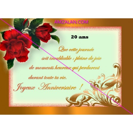 Poeme Joyeux Anniversaire Femme De 20 Ans A 30 Ans Sur Faience Idee Cadeau Fete Neuf Emballe Amzalan Com