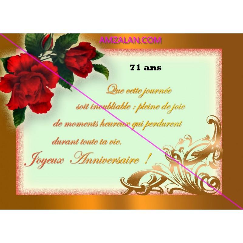 Poeme Joyeux Anniversaire Femme De 71 Ans A 80 Ans Sur Faience Idee Cadeau Fete Neuf Emballe Amzalan Com