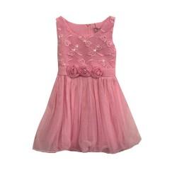 Robe de cérémonie fille rose fleurs brodées du 2 au 12 ans vêtement bapteme mariage communion enfant neuve