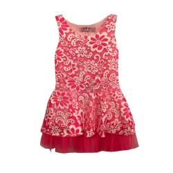 Robe de cérémonie fille fleurs rose du 2 au 12 ans vêtement bapteme mariage communion enfant neuve