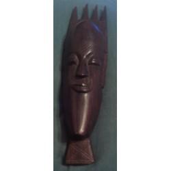 décoration murale masque africain en bois massif a suspendre