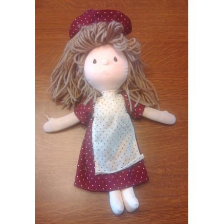 Vintage ancienne poupée chiffon collection tête polystyrène be