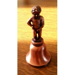 Ancienne Cloche manneken-pis bronze cuivre Bruxelles collection be