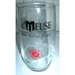 """Verre a bière """"la meuse"""" hauteur 12 cm collection tbe"""