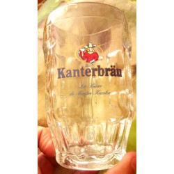 LOT DE 3 ANCIENS VERRES CHOPES COLLECTION KANTERBRAU TBE