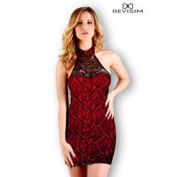 Robe dentelle noire doublé rouge sexy marque Revisim du XS au 8XL grande taille française coffret cadeau st valentin neuve