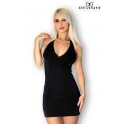 Robe noire dos nu Aria bijou strass sexy marque Revisim du XS au 8XL grande taille française coffret cadeau st valentin neuve