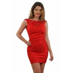 Robe rouge avec dos nu marque française DU S/M ou L/XL cadeau st valentin anniversaire neuve