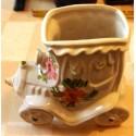 petit vase cache pot céramique forme voiture décoratif