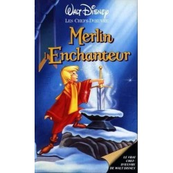 Cassette k7 vidéo vhs ENFANT MERLIN L'ENCHANTEUR Walt Disney. Wolfgang Reitherman occasion