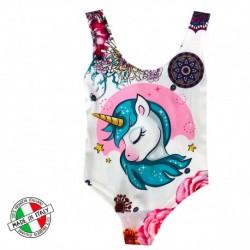 Maillot de bain enfant 1 pièces Fille Licorne Modele 10 du 2 au 12 ans piscine plage NEUF