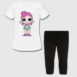 Ensemble Tshirt + legging court pour enfant - LOL modèle 1 du 4 au 12 ans idée cadeau anniversaire neuf