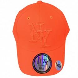 Casquette enfant brodé NY - Orange fluo taille 54 Idée cadeau anniversaire noel neuve