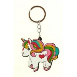 Porte clé anneau bébé licorne de couleur arc en ciel bijoux fantaisie déco NEUF