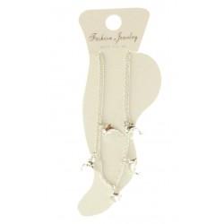 Chaîne pour cheville argenté motif dauphin bijoux fantaisie déco NEUF