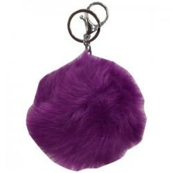 Porte clé pompon coloré diverses couleurs bijoux fantaisie déco NEUF
