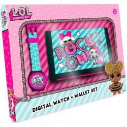 Set portefeuille + montre digitale Lol Surprise! licence officielle idée cadeau anniversaire noel neuf