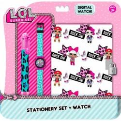 Set Lol Surprise Journal intime + montre + stylo 6 couleurs licence officielle idée cadeau anniversaire noel neuf