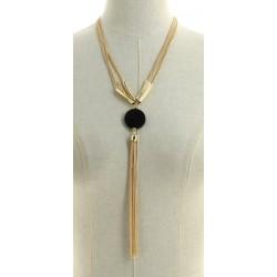Collier multi-chaînes avec pendentif ovales en chaîne doré diverses occasions mariage baptême communion NEUVE