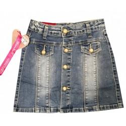Jupe en jean pour fille boutonné devant du 4 au 14 ans vêtement idée cadeau neuve