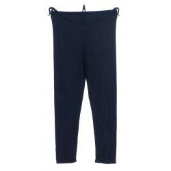 Legging en viscose couleur unie bleu marine France taille unique femme ados vêtement été plage piscine décontracté NEUF