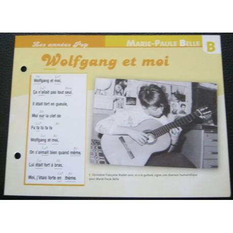 """FICHE FASCICULE """"PAROLES DE CHANSONS""""MARIE PAULE BELLE Wolfgang et moi 1973"""
