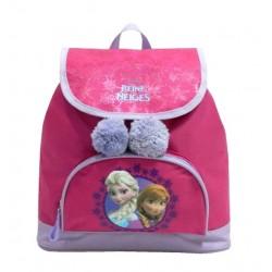 Sac à dos à pompon cartable La reine des Neiges Frozen fille licence Disney rentrée scolaire maternelle neuf