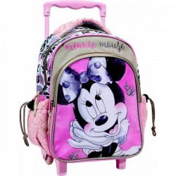 Sac à dos Trolley Minnie rose licence Disney 31 cm cartable scolaire enfant maternelle neuf