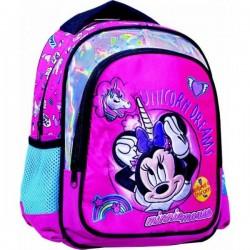 Sac à dos Minnie avec Licorne licence Disney 31 cm cartable scolaire enfant maternelle neuf