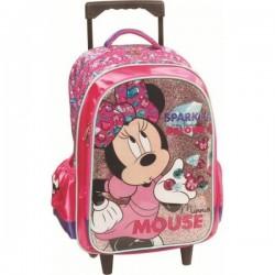 Sac à dos Trolley Minnie 46 cm licence Disney qualité supérieure cartable scolaire enfant neuf