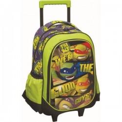 Sac à dos Trolley Les Tortue Ninja 46 cm licence officielle cartable scolaire enfant neuf