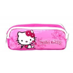 Trousse Hello Kitty rose licence officielle fille 2 compartiments zippés fournitures rentrée scolaire neuve
