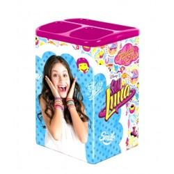 Pot à crayons a compartiments SOY LUNA fille fourniture scolaire bureautique licence officielle Disney neuf