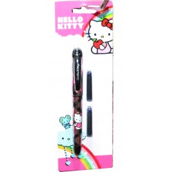 Stylo plume Hello kitty avec 2 cartouches fille fourniture rentrée scolaire LICENCE OFFICIELLE neuf